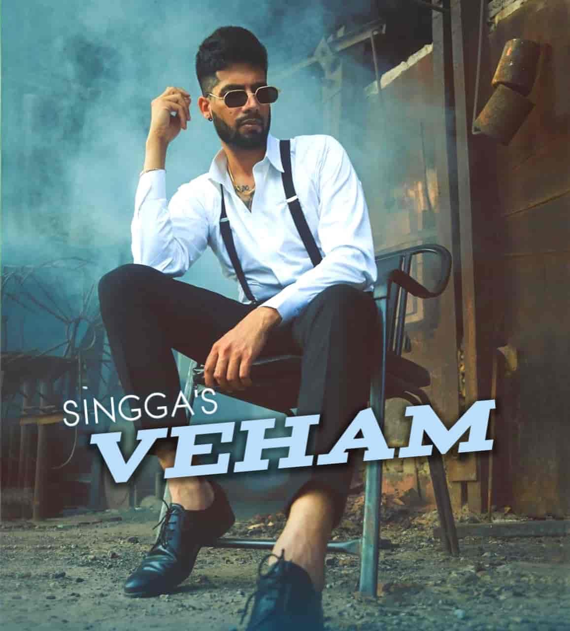 Veham Punjabi Song Image Features Singga