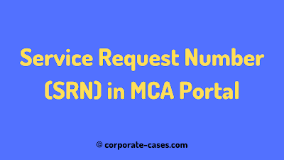 how to find srn number in mca