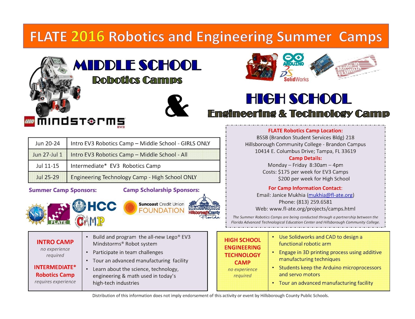 Flate Focus Robotics Camp Season Is Here Sign Up Now For A Summer