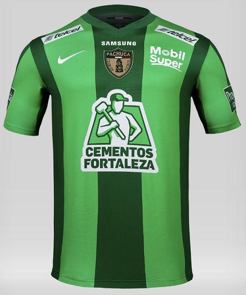Nike apresenta as camisas verdes de seus clubes patrocinados no México 4c2a5eb4be438