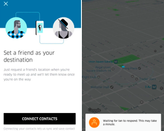 uber find a friend as alocation