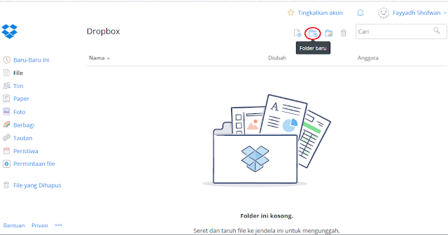 Dropbox merupakan layanan penyimpanan data secara online yang dioperasikan oleh Dropbox Cara Menggunakan Dropbox Website