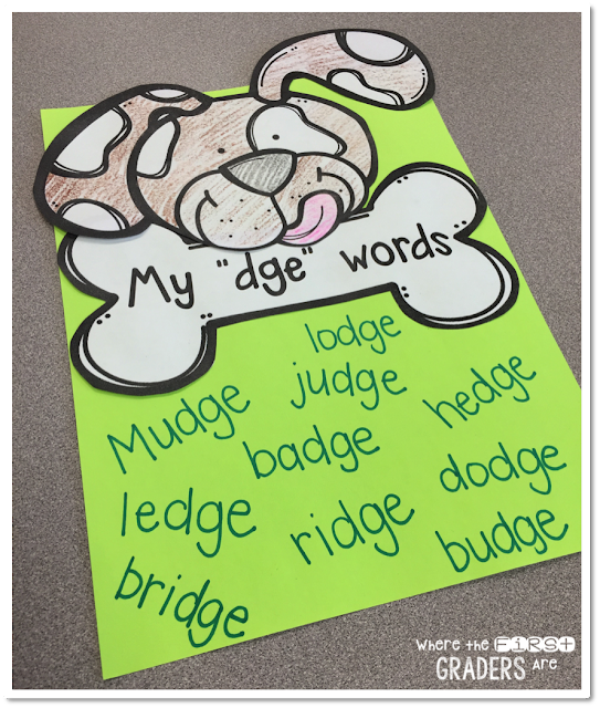 I'm here to bring you a super easy, quick and fun phonics activity freebie that is PERFECT for your end of year first graders!! If your students are anything like mine, they are huge fans of the Henry and Mudge series. The 'dge' phonics pattern is one that we save for the end of the year, so it just made sense to combine them or fun AND learning!!