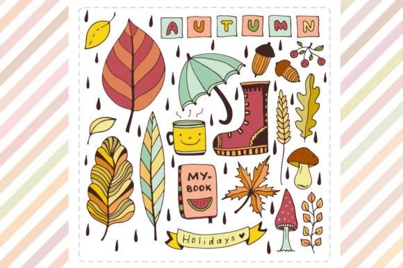 Autumn Doodle Elements
