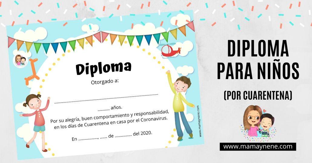 DIPLOMA DE CUARENTENA PARA NIÑOS
