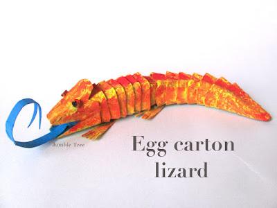egg carton lizard