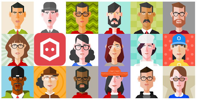 Hexatar, free web app to create cartoon picture in vector