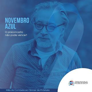 A Câmara Municipal de Cacimba de Dentro entra na campanha  da prevenção ao câncer de próstata.