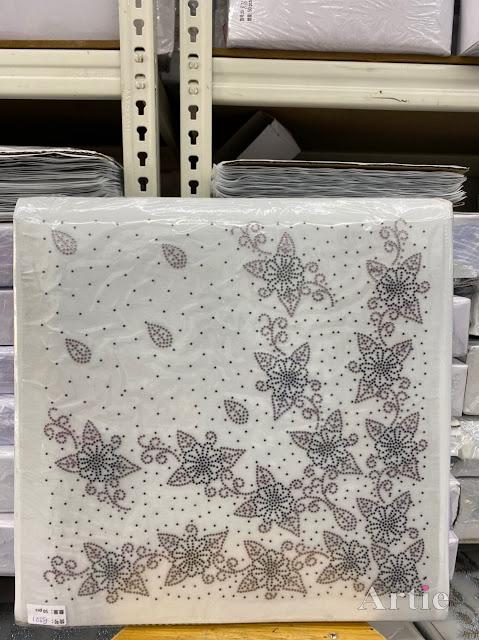 Hotfix stickers dmc rhinestone aplikasi tudung bawal fabrik pakaian corak dedaun berselerak dark silver