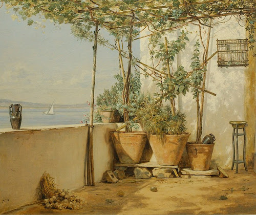El encanto de las macetas de barro en la pintura de jardín