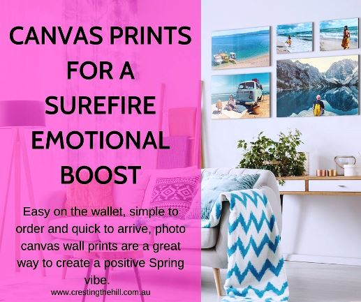 Easy on the wallet, simple to order and quick to arrive, photo canvas wall prints are a great way to create a positive Spring vibe.