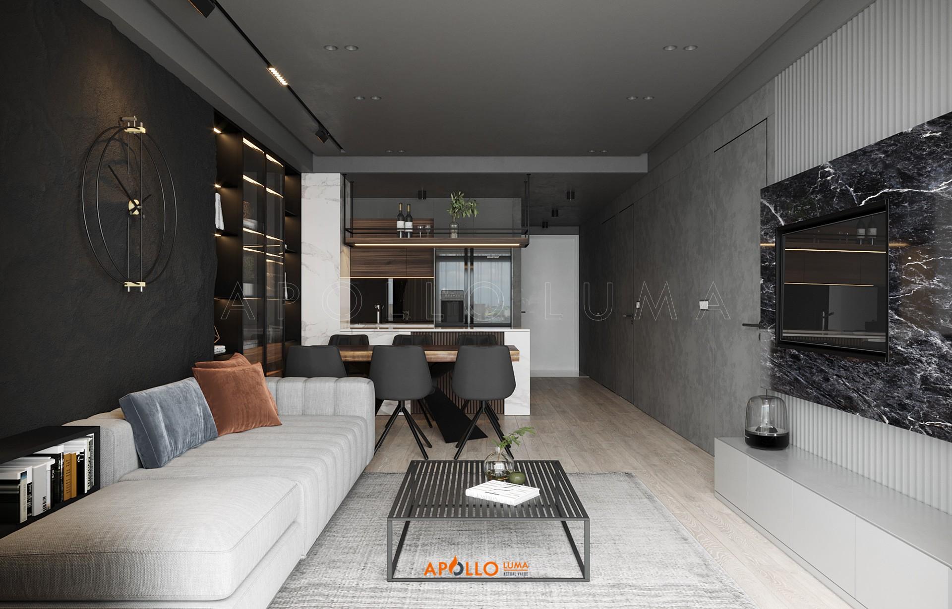 Thiết kế nội thất căn hộ 3PN (85m2) G1-08 Le Grand Jardin BRG Sài Đồng