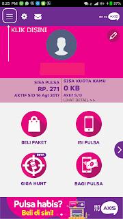 Buka aplikasi Axisnet dan silakan login menggunaka nomor hp