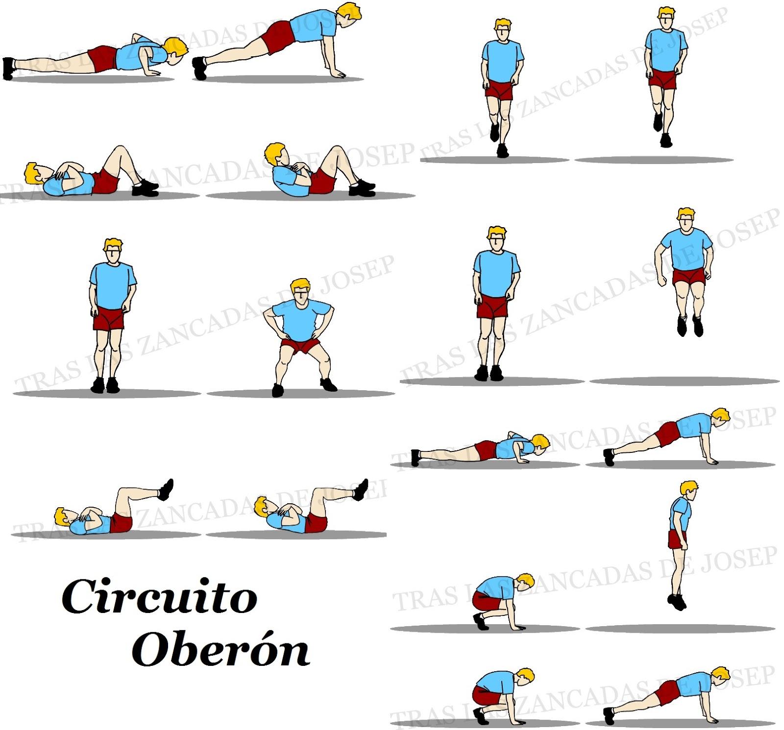 Circuito Oregon : A mis cuarenta y entrena la fuerza ii el circuito