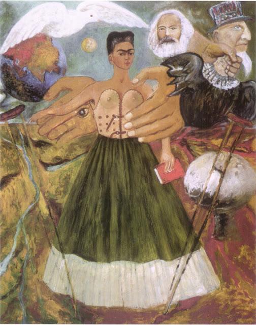 Фрида Кало - Марксизм подарит больным здоровье. 1954