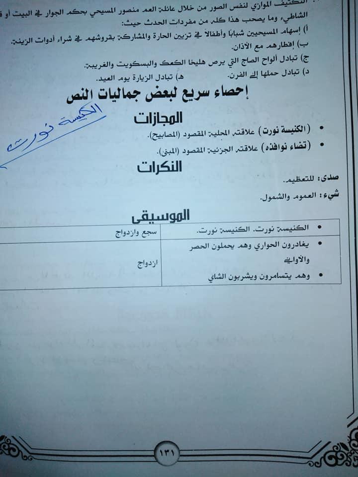 تجميع لمراجعات و امتحانات اللغة العربية للصف الثالث الثانوى  للتدريب و الطباعة 2021 11