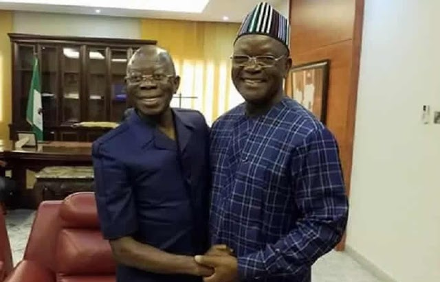 N10bn libel suit: Governor Ortom gives condition to 'forgive' Oshiomhole after he pleaded for out-of-court settlement