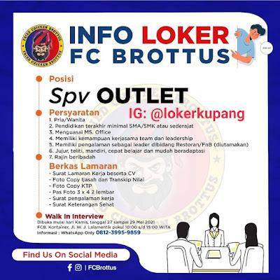 Loker Kupang di FC Brottus Sebagai SPV Outlet