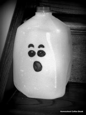 Budget Friendly Ghosts on the Virtual Refrigerator, an #art link-up hosted by Homeschool Coffee Break @ kympossibleblog.blogspot.com #VirtualFridge