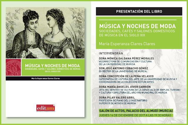"""Presentación del libro: """"Música y noches de moda"""", de María Esperanza Clares."""