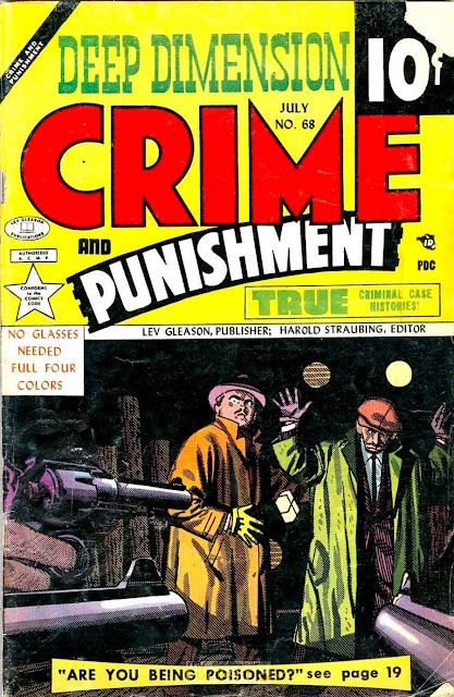 Crime and Punishment v1 #68 golden age crime comic book cover art by Alex Toth