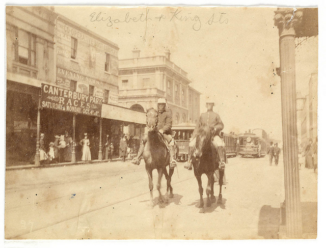 King and Elizabeth Street corner from Sydney, 1890 / photographed by Arthur K. Syer.