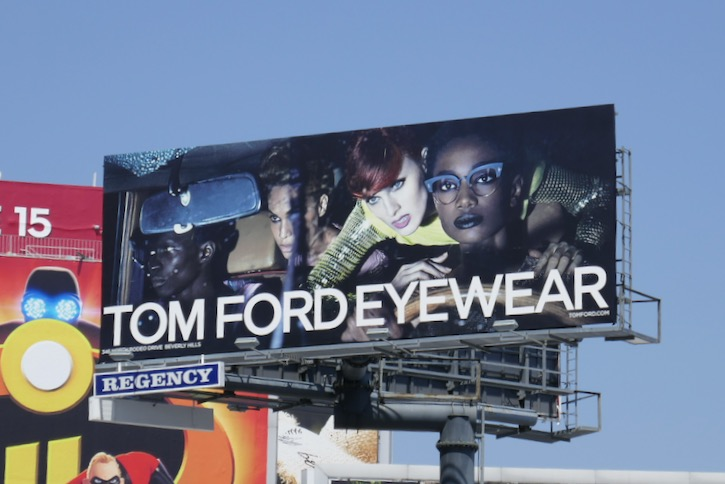 Tom Ford Eyewear SS18 billboard