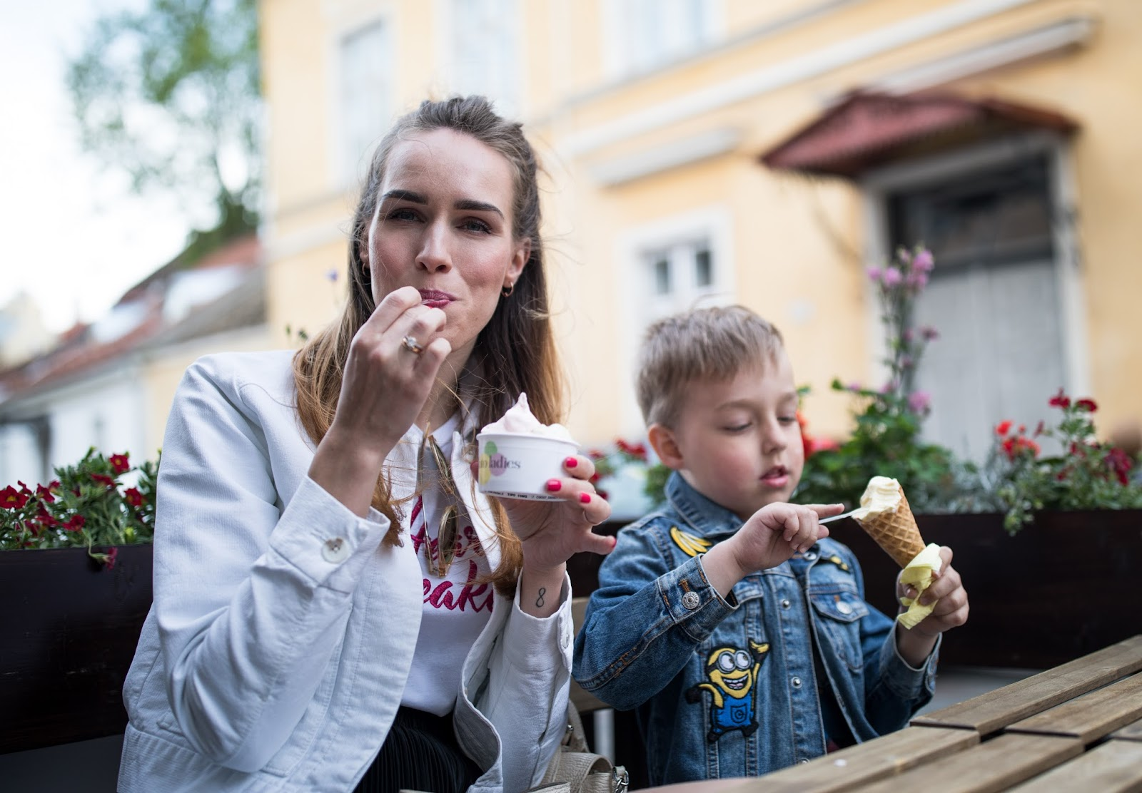 gelato icecream eating happiness