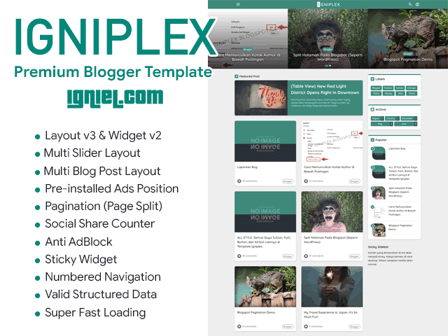 Igniplex v2.5 Responsive Free Blogger Template