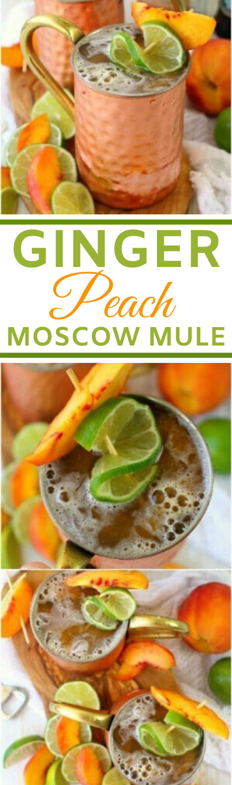 Ginger Peach Moscow Mule #drinks #alcohol #party #summer #refreshing