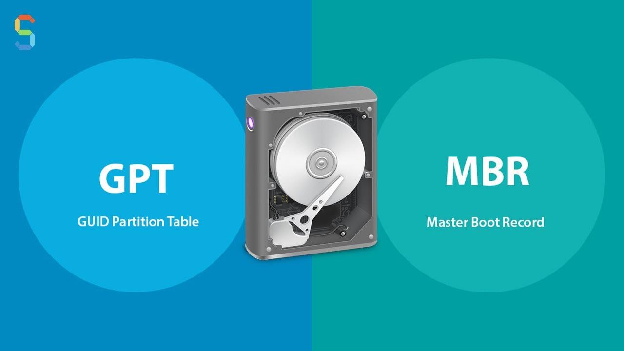 الفرق بين GPT أو MBR