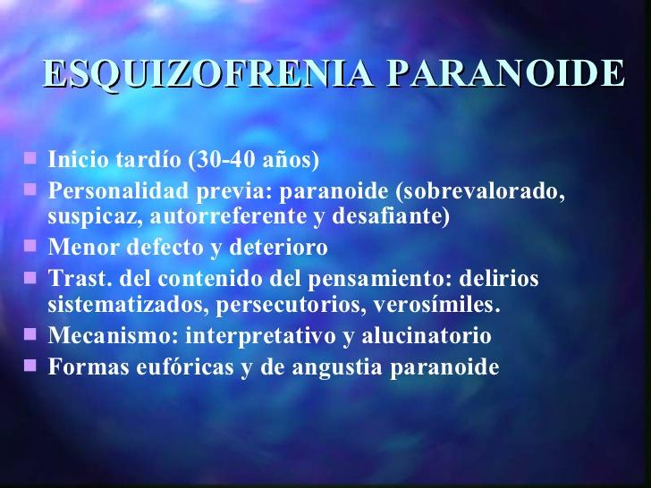 La Esquizofrenia: Tipos de esquizofrenias
