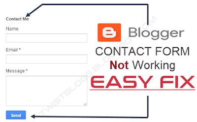 fix blogger contact form not working