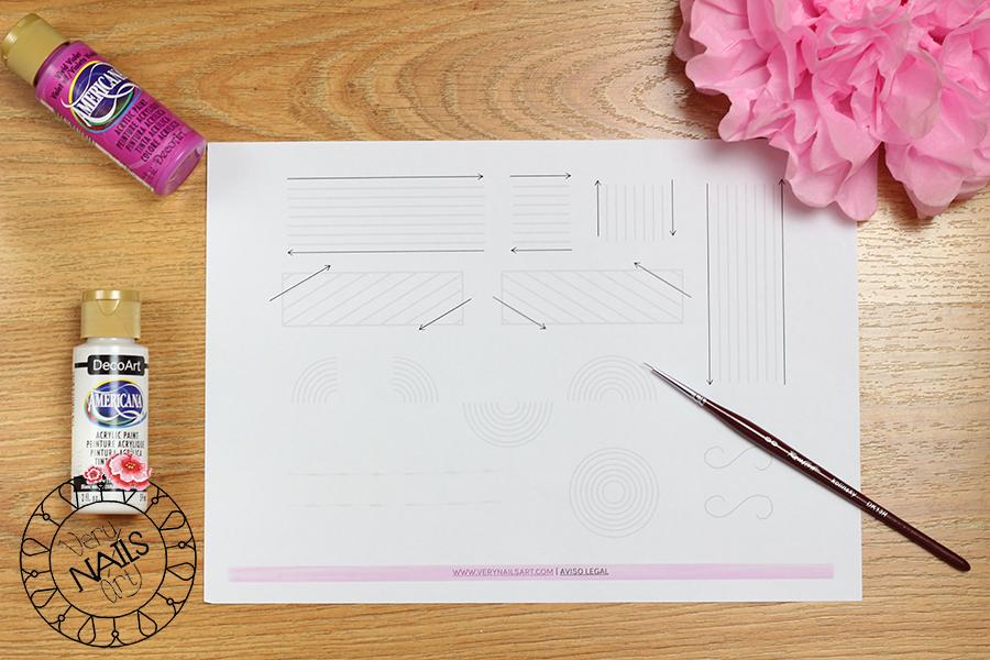 Plantilla imprimible para practicar el pulso y precisión en dibujo a mano alzada