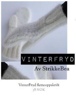 Strikkeoppskrift på tova votter med fletter - Vinterfryd