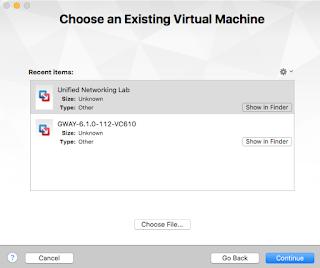 Importing UNetLab ova into VMWare Fusion
