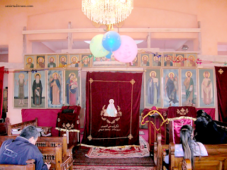 منظر داخلي للكنيسة من الداخل اثناء الترميمات