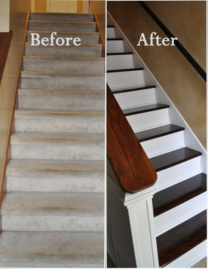 Swap Carpet For Wood Stairs