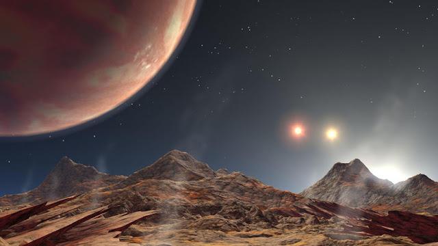 Astrónomos descubren un peculiar y cercano exoplaneta con tres soles rojos brillantes