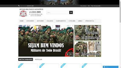 Criação de Site Loja Virtual para Artigos Militares