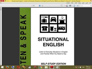 حمل كتاب المواقف اليومية فى اللغة الانجليزية  (يفيدك فى المواقف العامة و الاجتماعية)