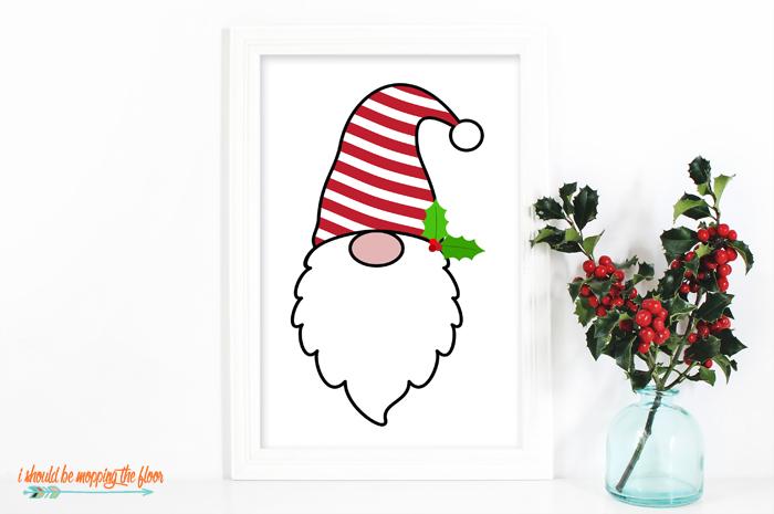 Printable Christmas Gnome