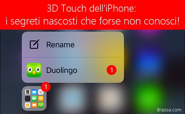 3D Touch iPhone tutti i suggerimenti e trucchi nascosti