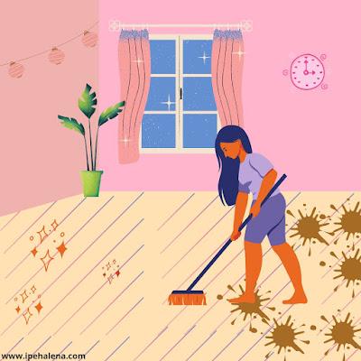 Bersih rumah paska banjir