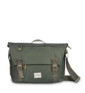 Tas Selempang pria eiger Laptop Shoulder Bag 12L - OLIVE
