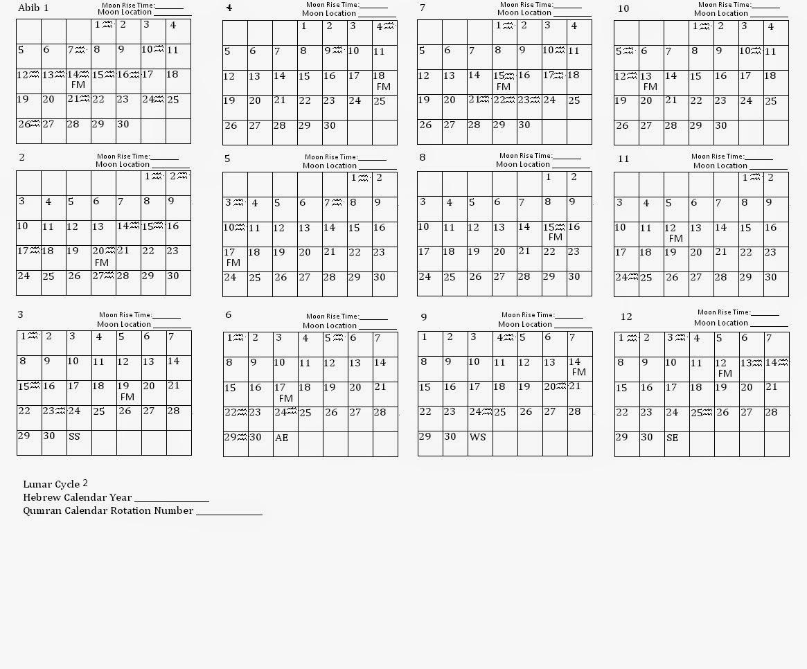 raggedy cottage and garden: Qumran Calendar Template