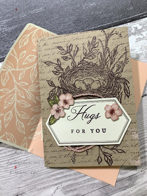 Card made by Kate Bolt Inkstampshare using the Hugs From Shelli Paper Pumpkin Kit