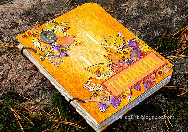 Layers of ink - Autumn Sketchbook / Notebook diy Tutorial by Anna-Karin Evaldsson.