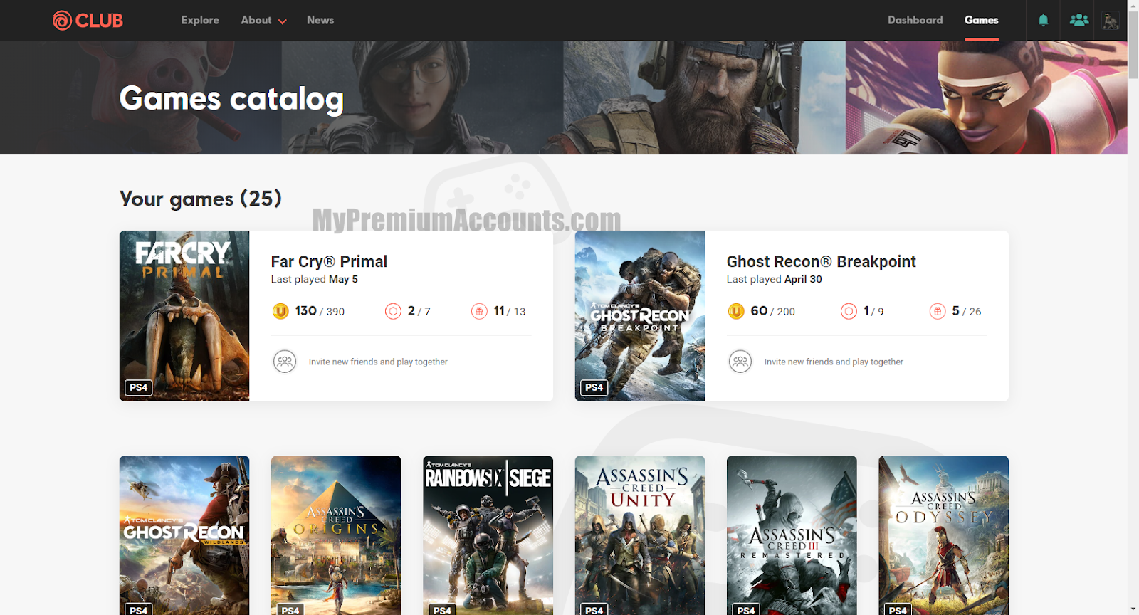 x3k Ubisoft.com (Uplay) Accounts with Games for PC, PS4, XBOX Etc May 22, 2020