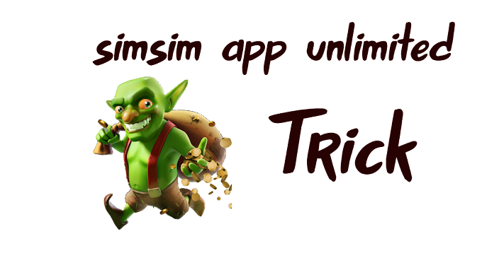 Loot tricks Simsim application - Invite friends and get unlimited free purchases